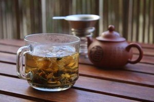 Green tea with american ginseng,chrysanthemum......